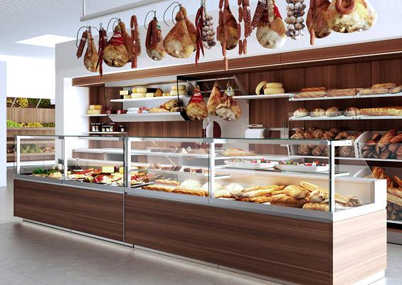 Arredamenti componibili per negozi for Arredamenti per negozi di gastronomia